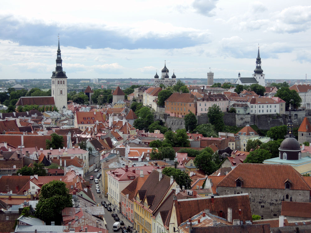 Вид на Старый Таллин с башни Святого Олафа