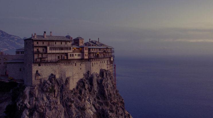 Гора Афон в Греции