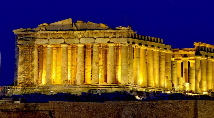Храм Парфенон в Афинах, Греция